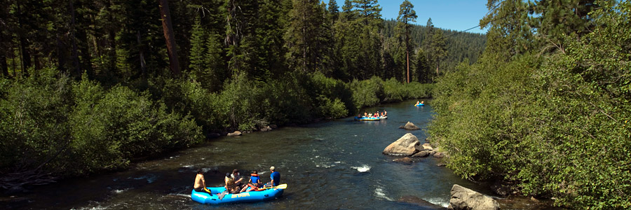 Truckee River Rafting floating the truckee river